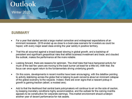 Economic Outlook Winter 2020