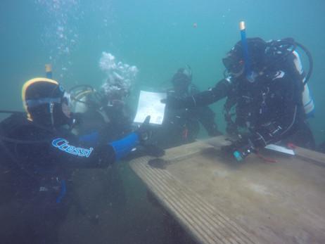 Underwater certificate presentation