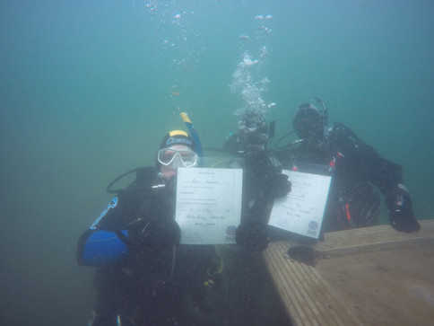 Newly qualified divers :)