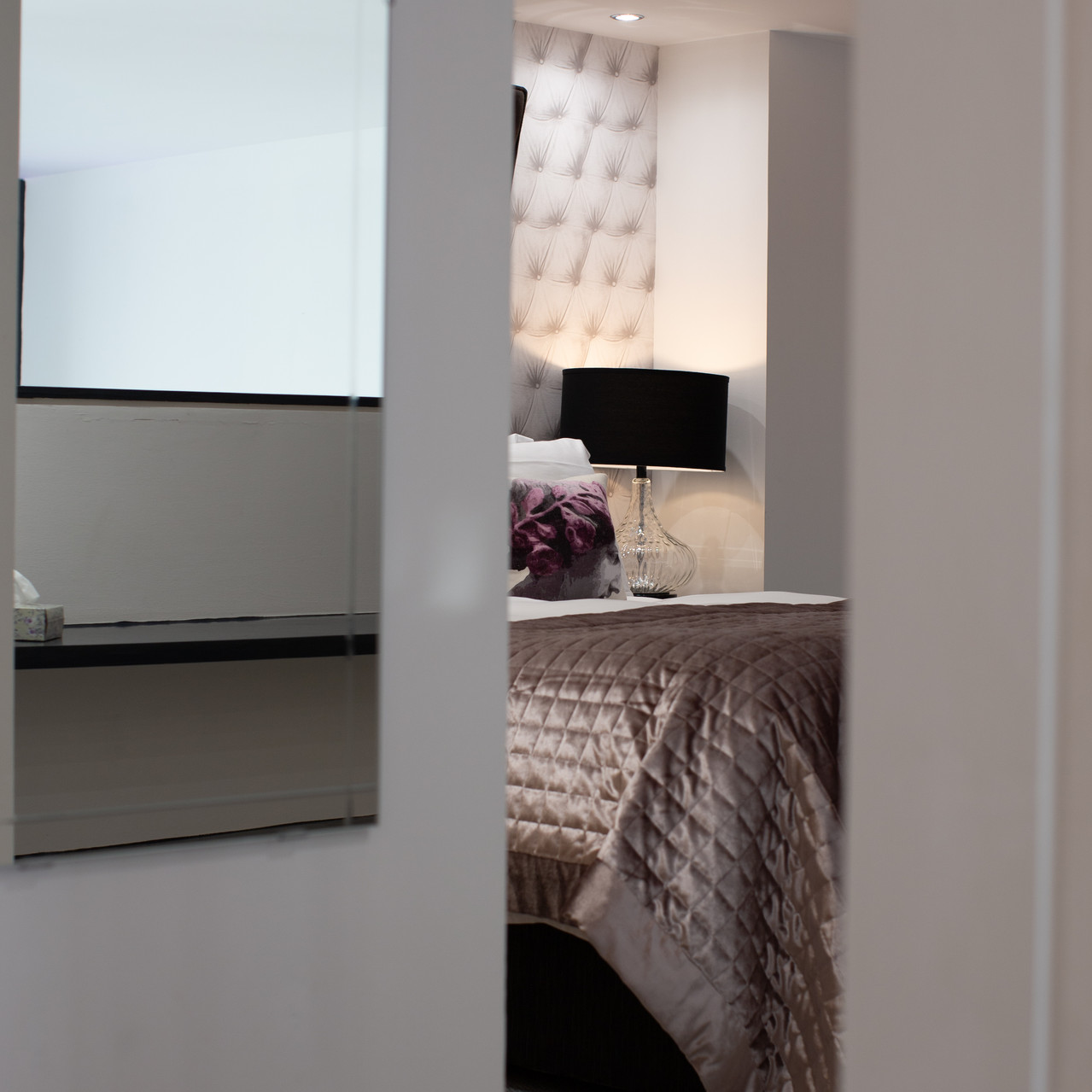 Interior photography bedroom detail