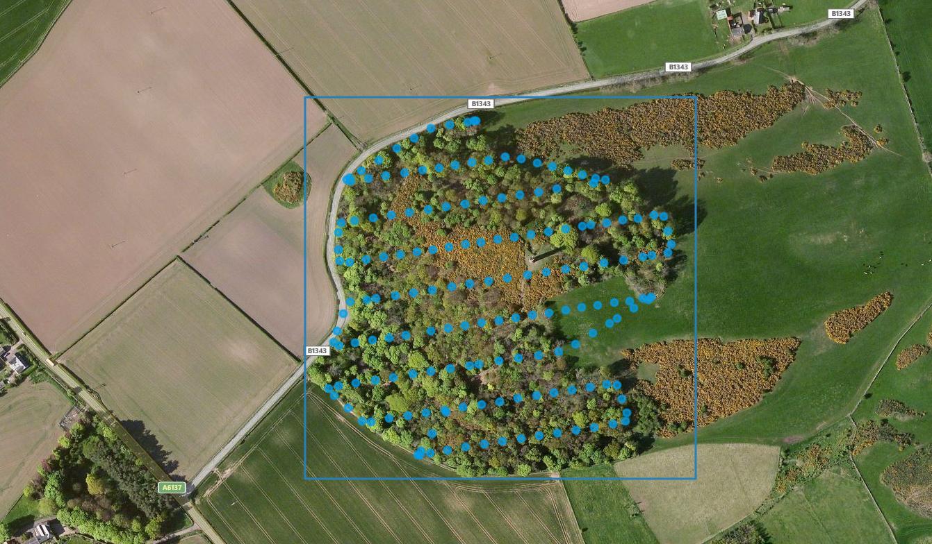 Aerial mapping flight plan