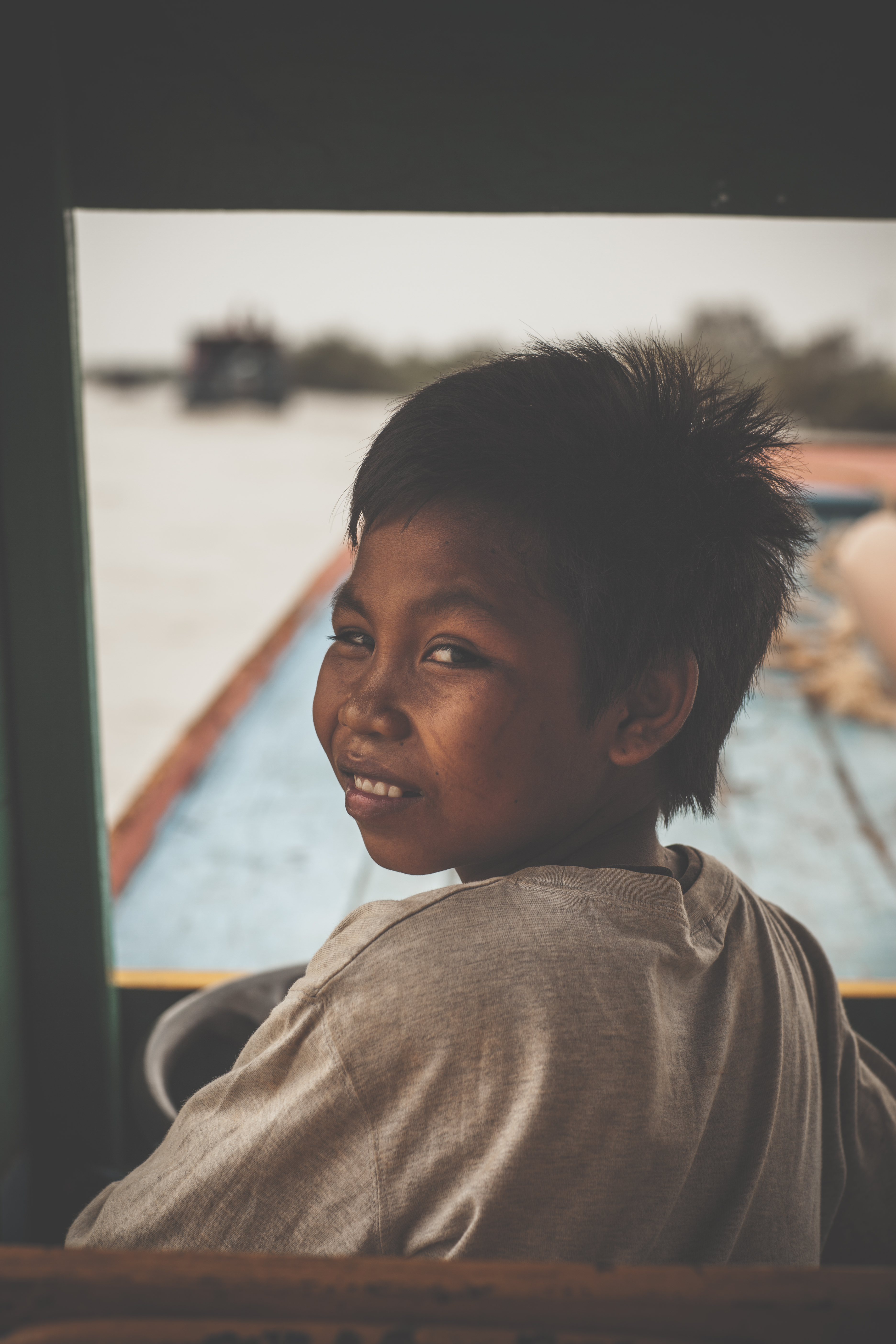 Cambodian boat driver