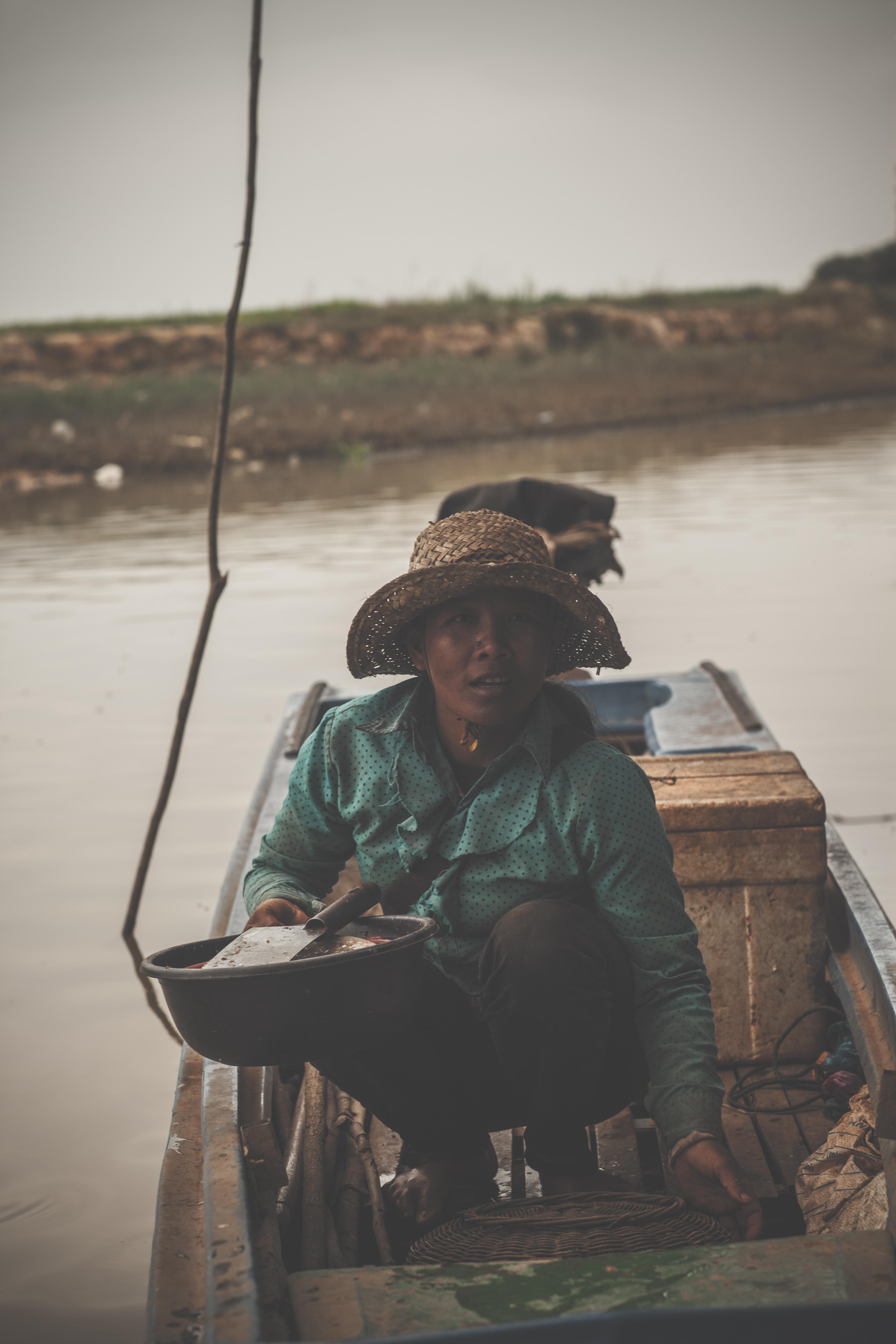 Cambodian fisherwoman