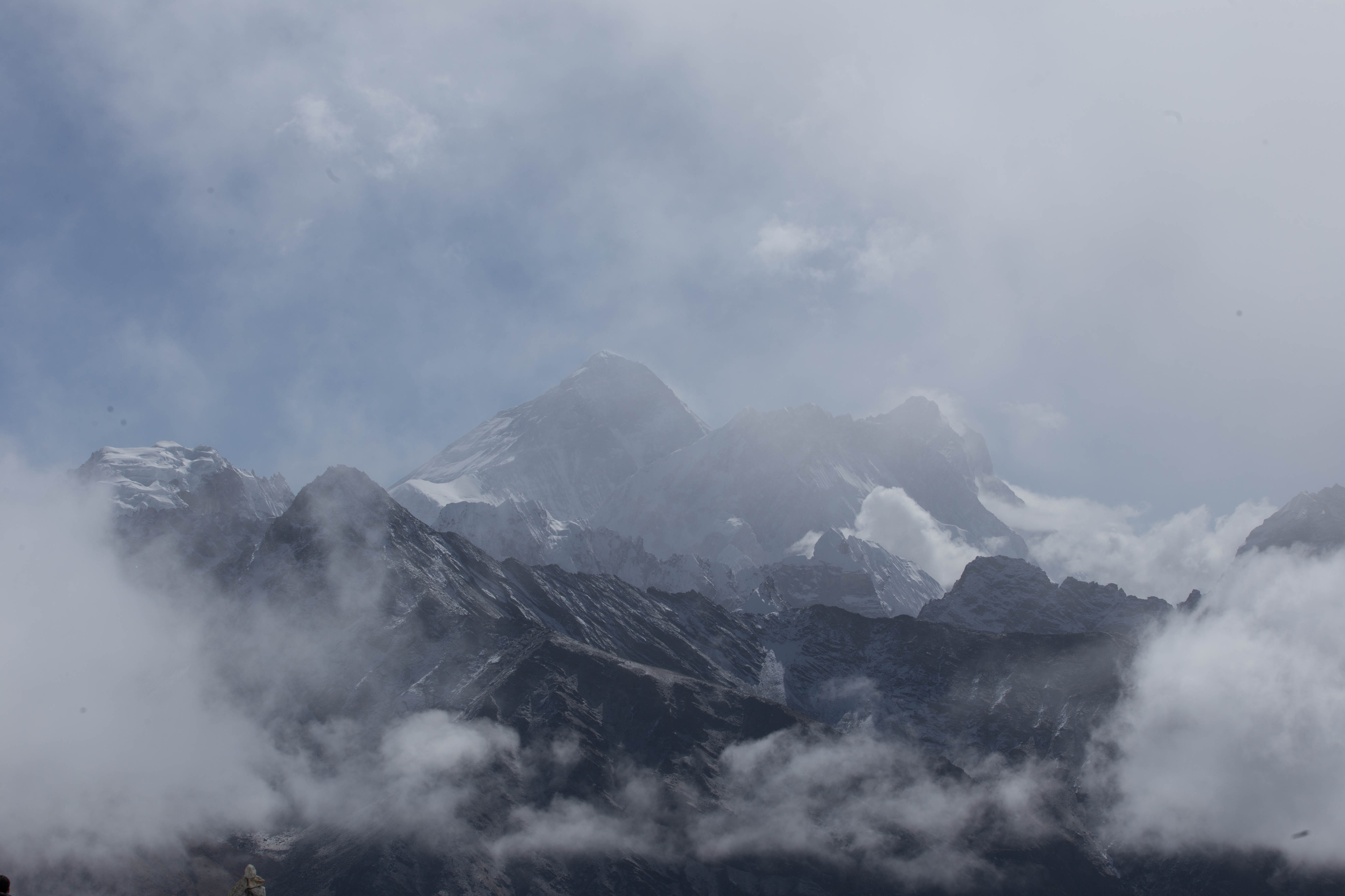 Mount Everest and the clouds