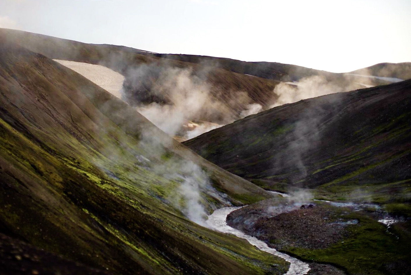 Hot springs on Laugavegur trail