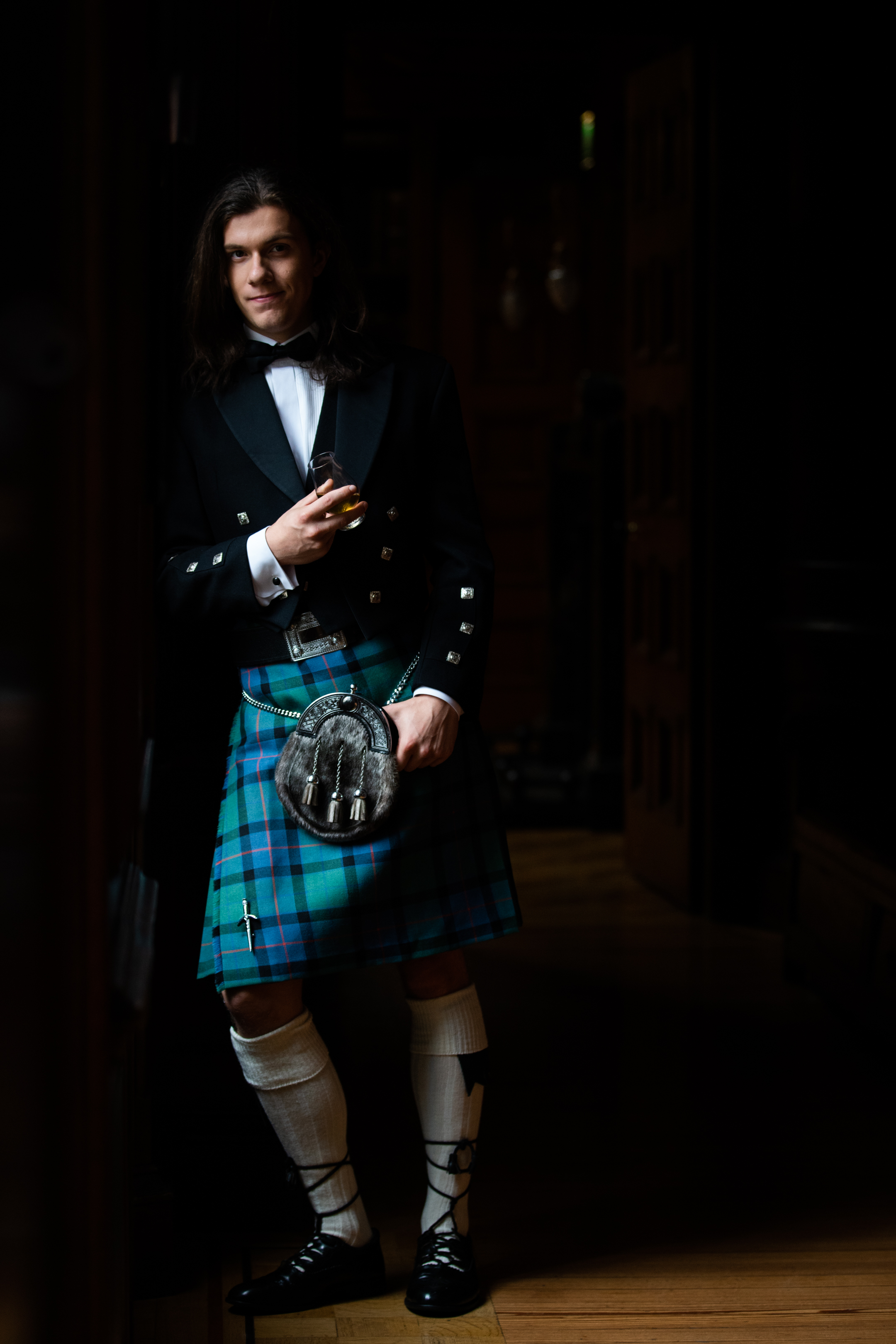 Fashion shoot kiltwear
