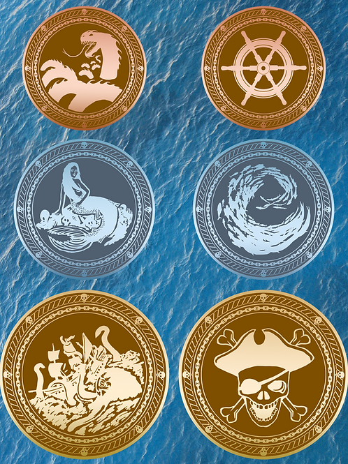 Pirate/Seafarers Dragon Scales Gaming Coins (10 Coins)