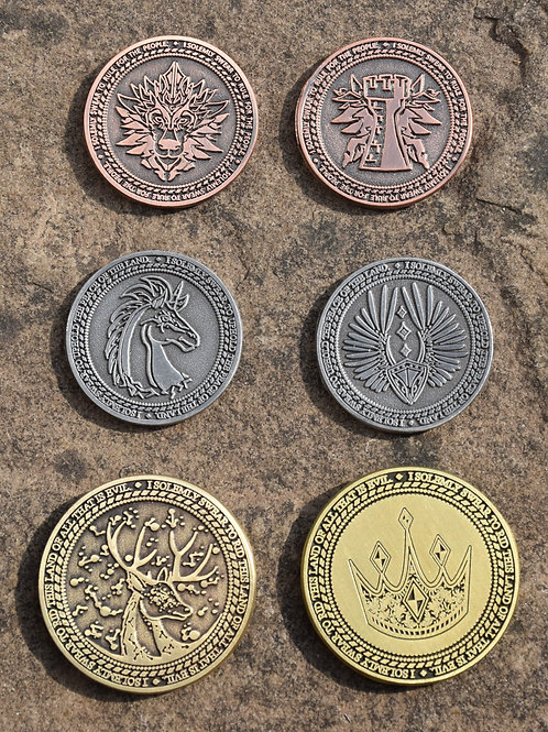 Knight Dragon Scales Gaming Coins (10 Coins)