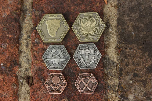 Dwarven Dragon Scales Gaming Coins (10 Coins)