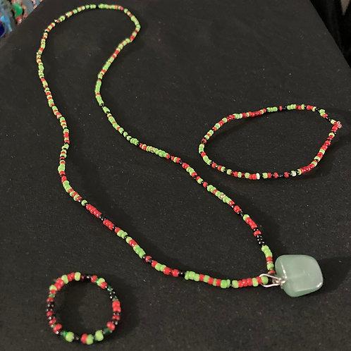 RBG Necklace Bracelet ring