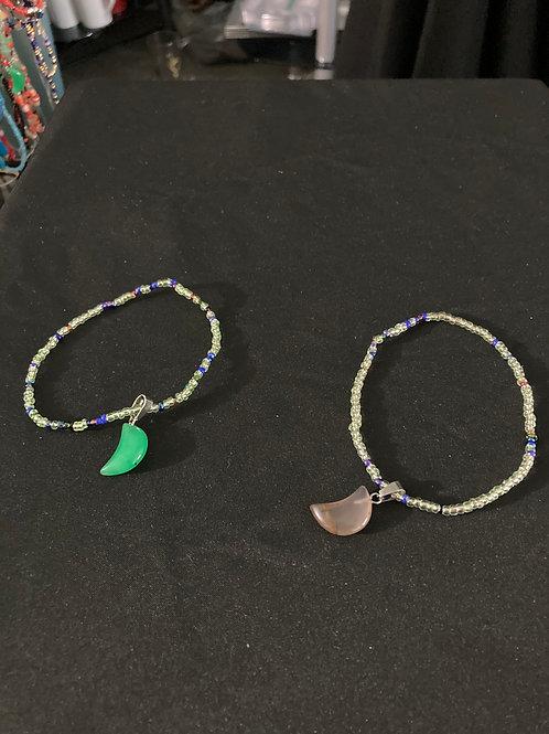Bracelet set with Crescent Moon