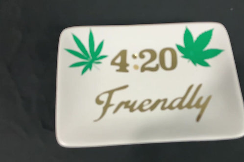 White 420 Ash Tray