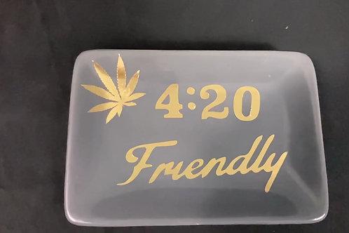 Gray 420 Friendly Ash Tray