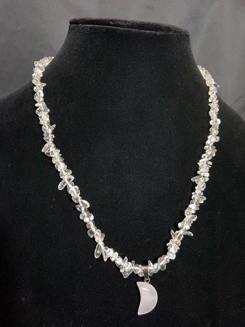 White Crown Chakra Necklace