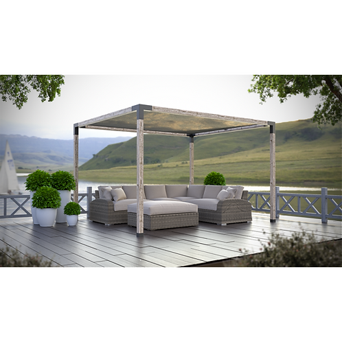 "Pergola Kit with Shade Sail for 6""x6"" Wood Posts"
