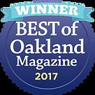Voted best Yoga Teacher 2017 - Oakland Magazine