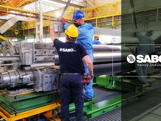 Προγραμματισμένη εβδομαδιαία συντήρηση προετοιμασίας set ραούλων έλασης αλουμινίου.