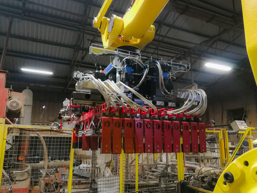 An innovative robotic application at Northcot Brick, United Kingdom.