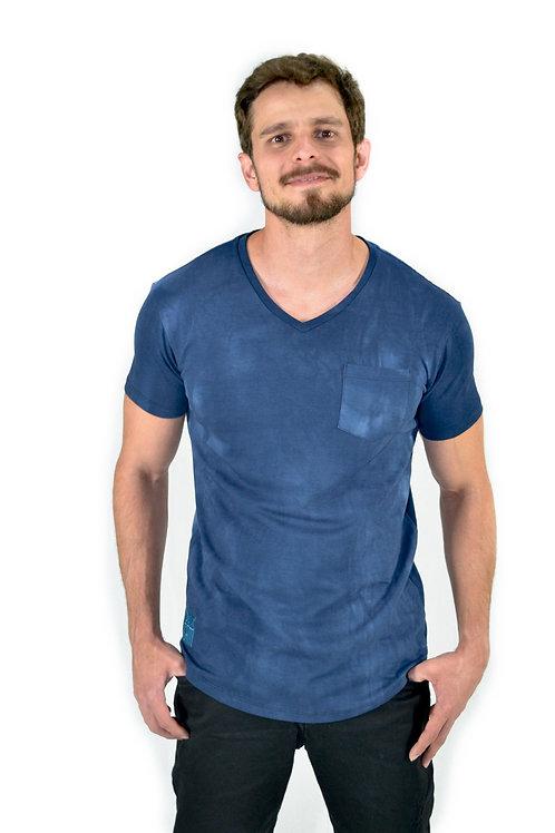 Camiseta Longline V Tie Dye