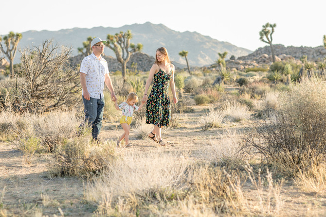 Cute Spring Family Portrait Session in Joshua Tree National Park