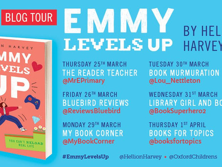 Blog Tour (Top Three): Children's Books About Gaming by Helen Harvey, author of Emmy Levels Up