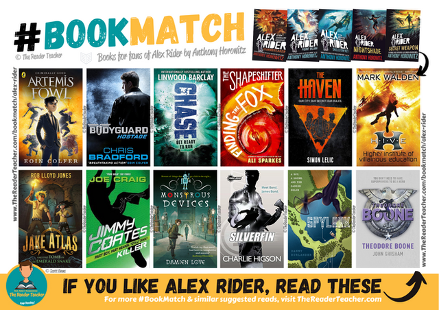 Similar suggestions to Alex Rider by Anthony Horowitz