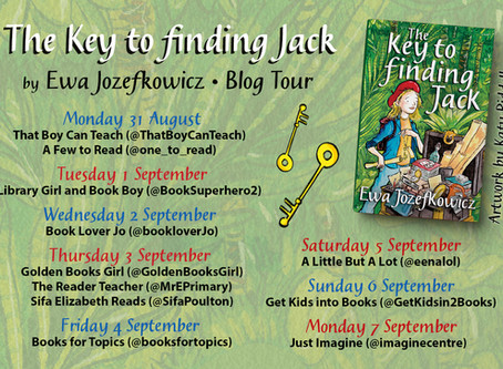 Blog Tour: (Review & Guest Post) Key to Finding Jack by Ewa Jozefkowicz (Illustrated by Katy Riddell