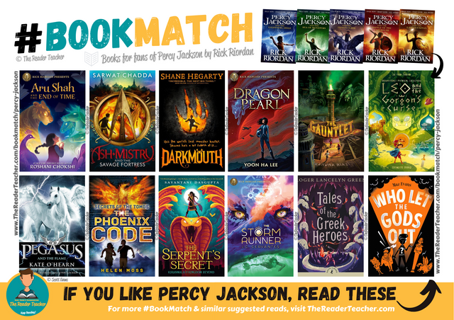 Similar suggestions to Percy Jackson by Rick Riordan