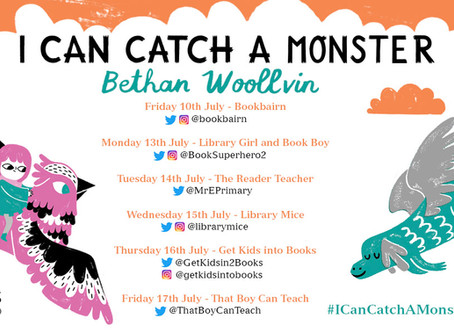Blog Tour (Top Three: Children's Books Featuring Monsters): I Can Catch a Monster by Bethan Woollvin