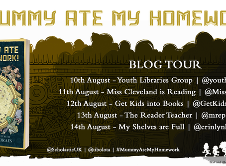 Blog Tour (Review & Guest Post): A Mummy Ate My Homework by Thiago de Moraes