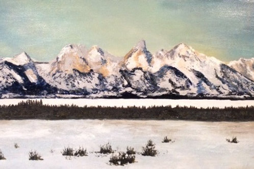 Print of The Grand Tetons