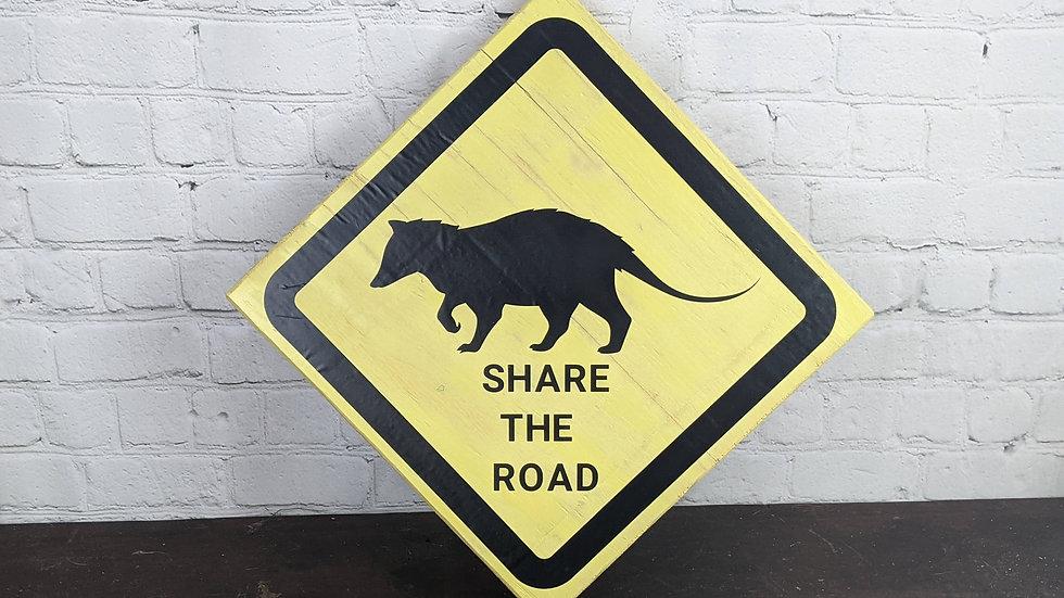 Opossum Road Sign Wall Hang