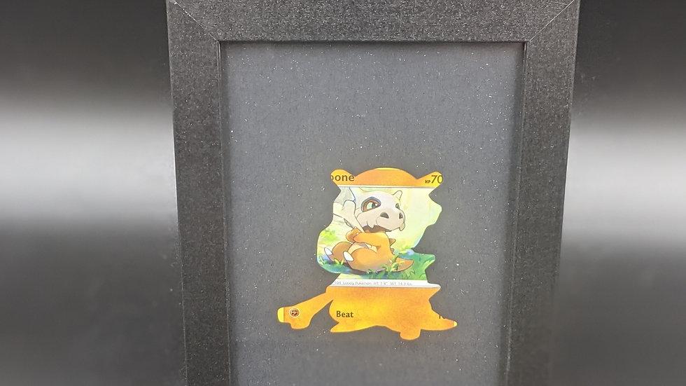 Cubone Silhouette Pokemon Card Art