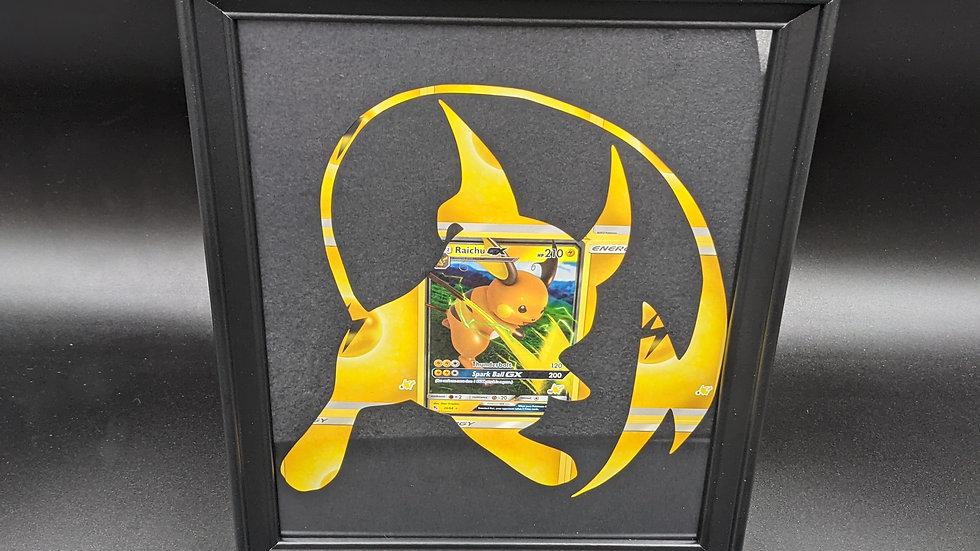 Holographic Raichu GX Silhouette Pokemon Card Art