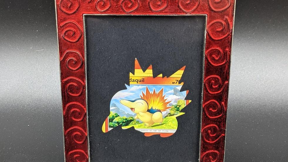 Cyndaquil Silhouette Pokemon Card Art