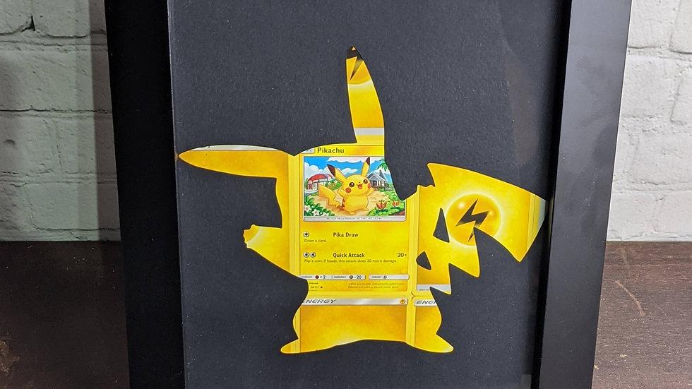 Pikachu Silhouette Pokemon Card Art