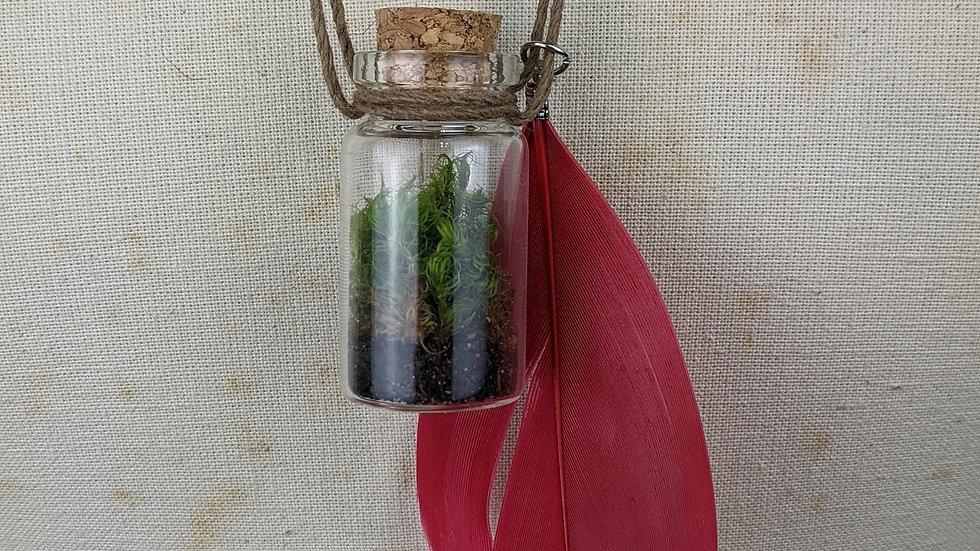 Living Moss Glass Vial Terrarium Pendant