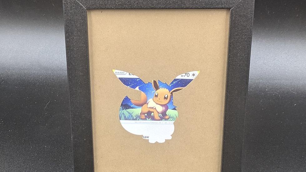 Eevee Silhouette Pokemon Card Art