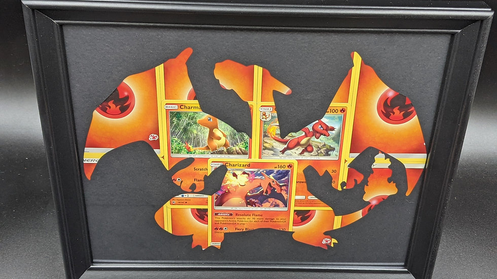 Charizard Evolution Silhouette Pokemon Card Art