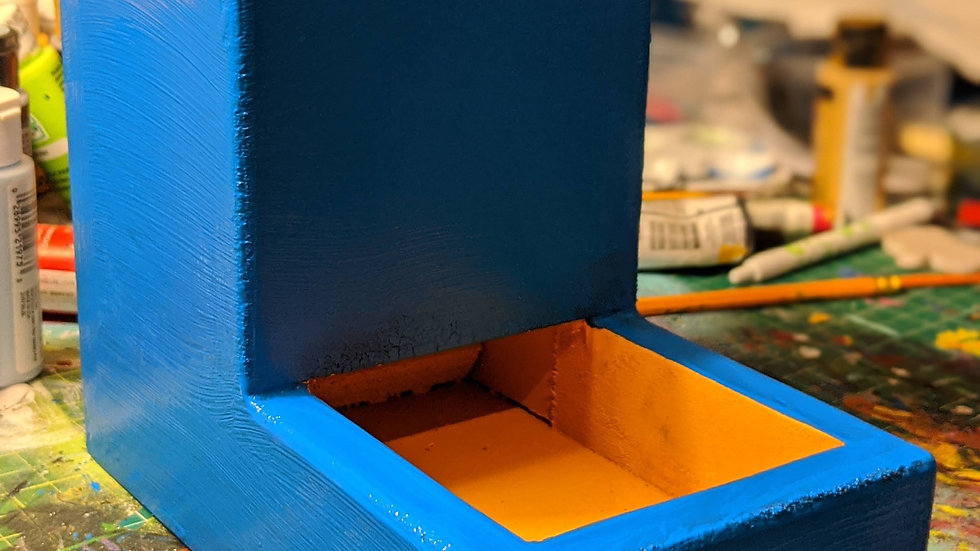 Blue and Yellow Dice Tower