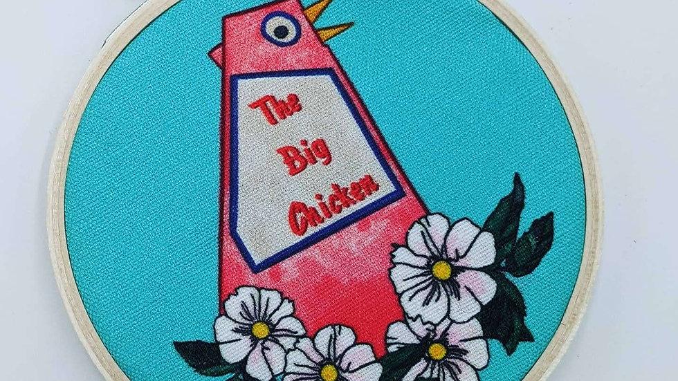 """4"""" Big Chicken Embroidery Hoop"""