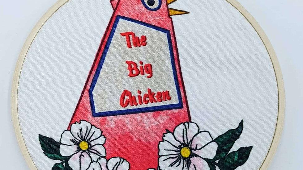 """6"""" Big Chicken Embroidery Hoop"""