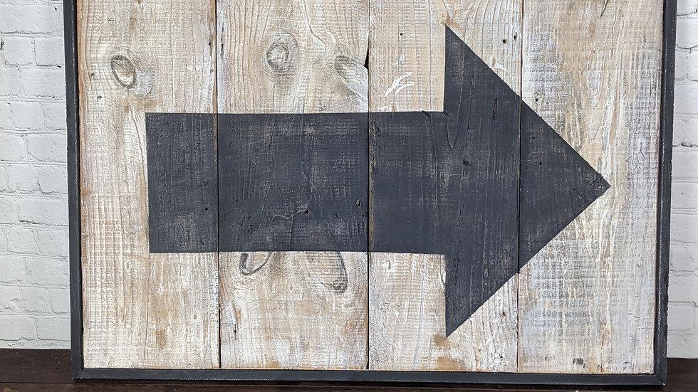 Rustic Arrow Wood Sign