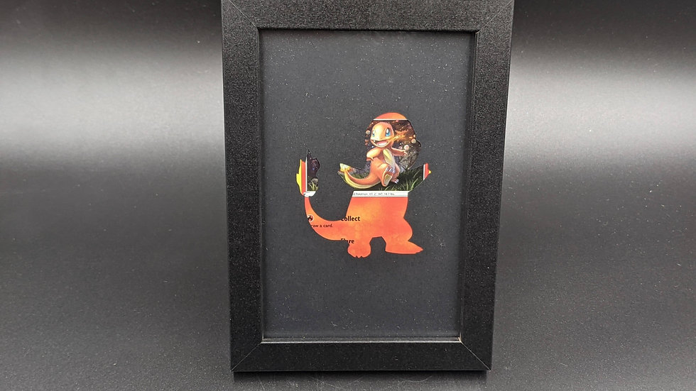Holographic Charmander Silhouette Pokemon Card Art
