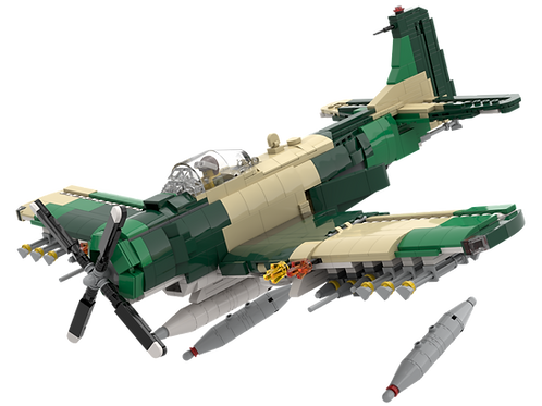 INSTRUCTIONS - A-1H Skyraider (Camo)