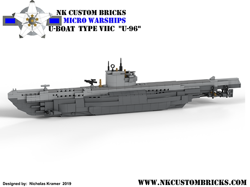 INSTRUCTIONS:  Micro Warships - U-Boat Type VIIC - U-96