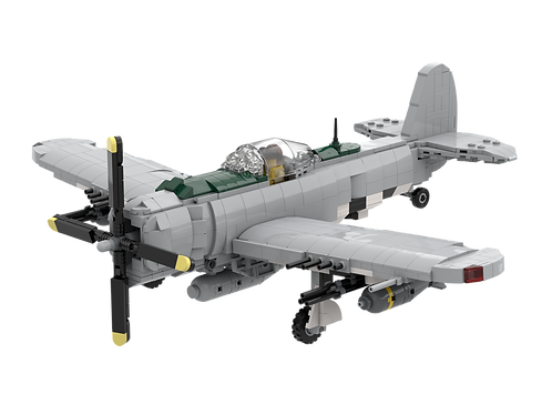 P-47 LBG, with Invasion Stripes