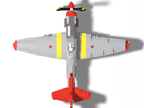 P-51D Mustang - Red Tail w/ Red nose