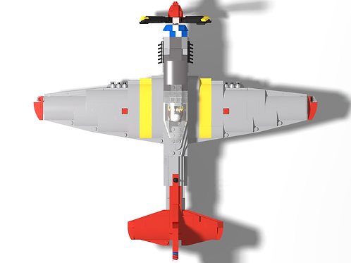 P-51D Mustang - Red Tail w/ Blue checkered nose