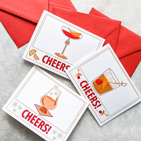 Cocktail Card Set of Three